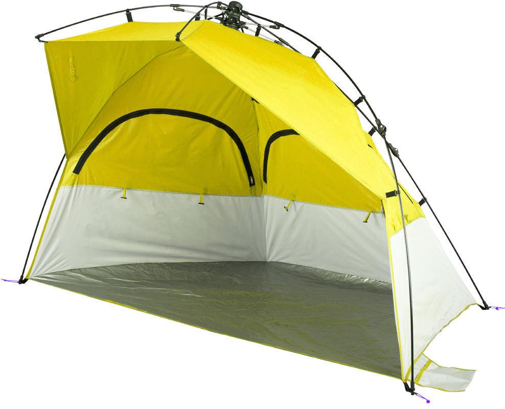 Oztrail Terra Beach Tent - open view  sc 1 st  C&ing Central & oztrail gemini Pop Up Beach Tent Sun Shade UV Shelter - Blue ...