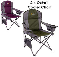 2 X COOLER CHAIR (GREEN & PURPLE)