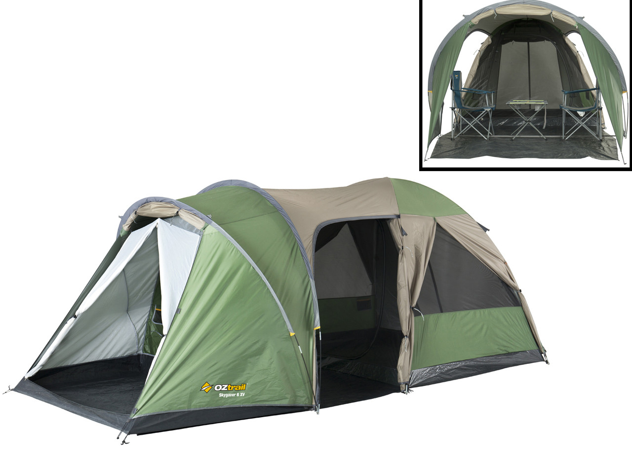 new concept 7d6c6 eec20 OZTRAIL SKYGAZER 6XV Dome Family 6 Person Man Tent (Sleeps 6)