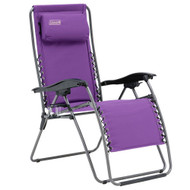 Coleman Layback Lounger Purple - Open View
