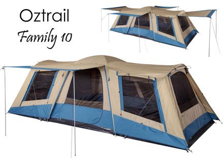Oztrail Family 10 Tent - Sleeps upto 10 people