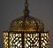 Egyptian brass hanging lantern lights