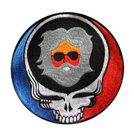 Large embroidered Steal Your Face Patch with Jerry Head in the middle(8 inches)