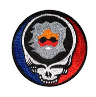 Small embroidered patch with Steal Your face and Jerry head (3 inches)
