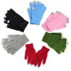 A Pair Magic Touch Screen Gloves Smartphone Texting Adult Winter Knit -Grey