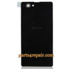 Back Cover for Sony Xperia Z1 Compact mini -Black from www.parts4repair.com