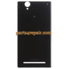 Back Cover for Sony Xperia T2 Ultra XM50H -Black from www.parts4repair.com