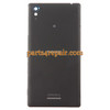 Back Cover with Side Keys for Sony Xperia T3 -Black from www.parts4repair.com