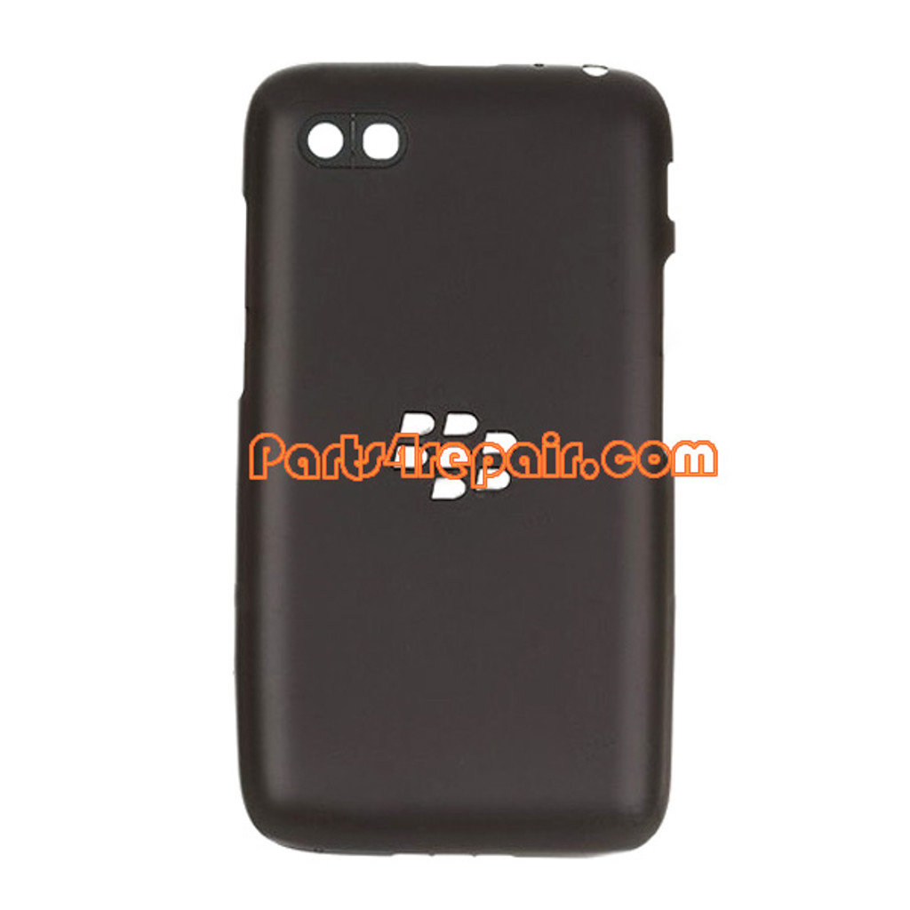 Back Cover for BlackBerry Q5 -Black from www.parts4repair.com