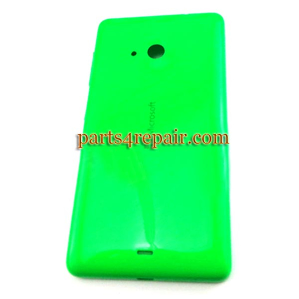 Back Cover with Side Keys for Microsoft Lumia 535 -Green (Smooth and Bright) from www.parts4repair.com