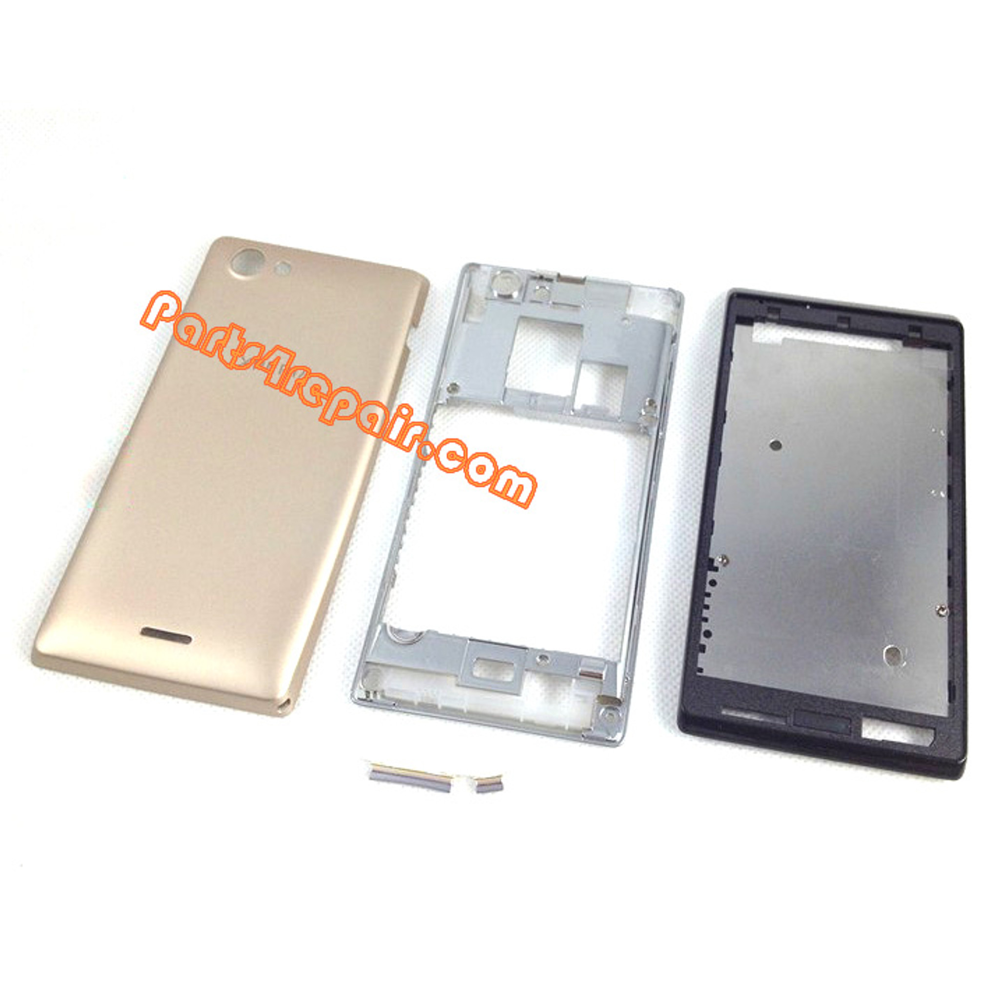 Full Housing Cover for Sony Xperia J ST26I -Gold ... Xperia J Gold