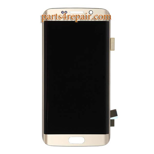 Complete Screen Assembly for Samsung Galaxy S6 Edge All Versions -Gold