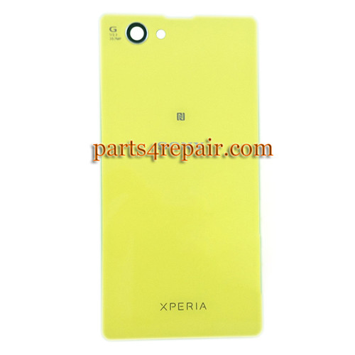 Back Cover OEM for Sony Xperia Z1 Compact mini -Yellow (Glass)