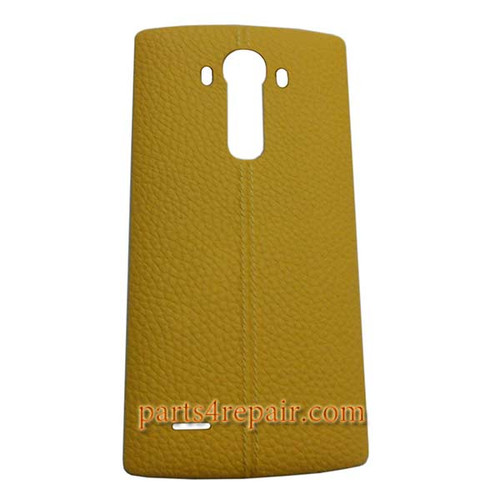 Back Cover with NFC for LG G4 -Leather Yellow