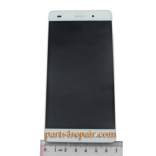 Complete Screen Assembly with Bezel for Huawei P8lite -White