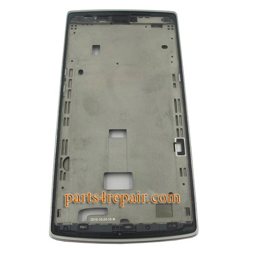 Front Housing Cover for Oneplus One -Silver