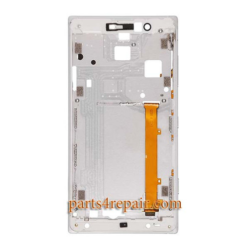 Front Housing Cover with Side Keys for Nokia Lumia 830 -White
