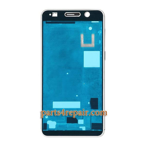 Front Housing Cover with Adhesive for Huawei Honor 6 (Single SIM) -White