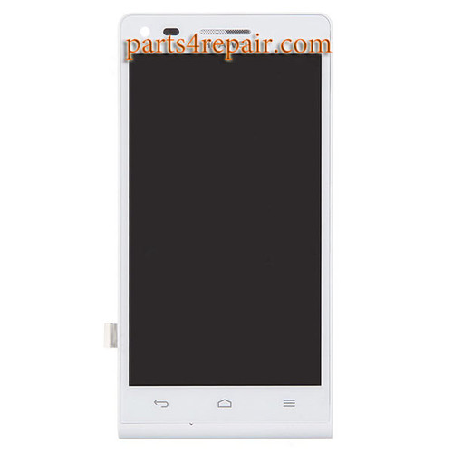 Complete Screen Assembly with Bezel for Huawei Ascend G6 -White
