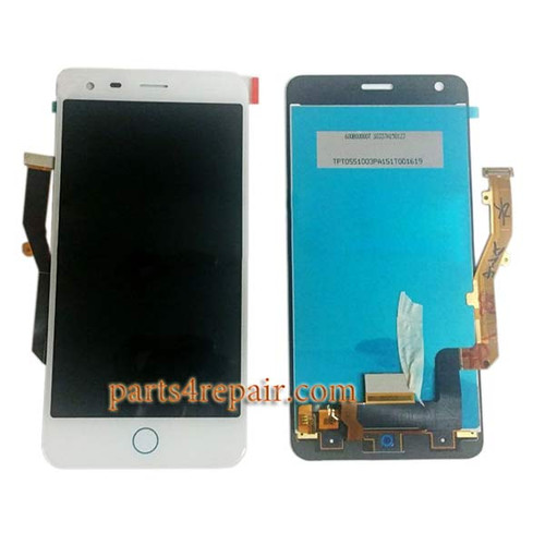 Complete Screen Assembly for ZTE Blade S6 Plus (Q7) -White
