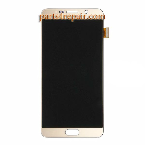 Complete Screen Assembly for Samsung Galaxy Note 5 All Versions -Gold