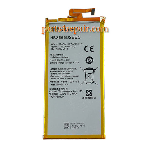 4230mAh Battery HB3665D2EBC for Huawei P8 Max