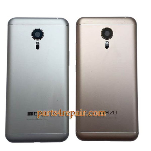 Back Housing Cover with Side Keys for Meizu MX5 -Silver