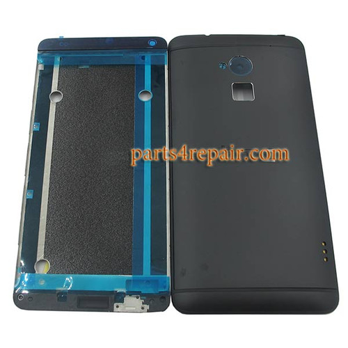 Full Housing Cover for HTC One Max -Black