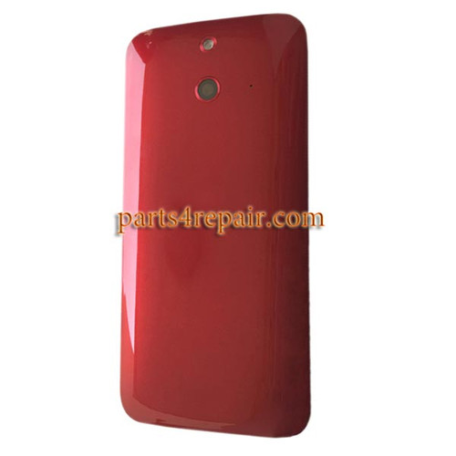 Back Cover with Power Button for HTC One E8 -Red