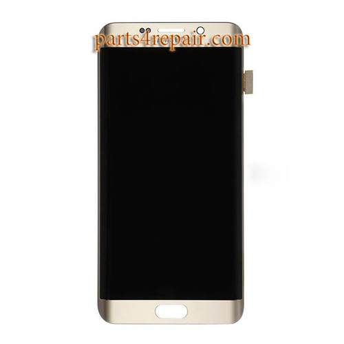 Complete Screen Assembly for Samsung Galaxy S6 Edge+ -Gold