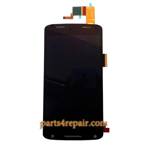 Complete Screen Assembly for Motorola Droid Turbo 2 XT1585 (for Verizon) -Black