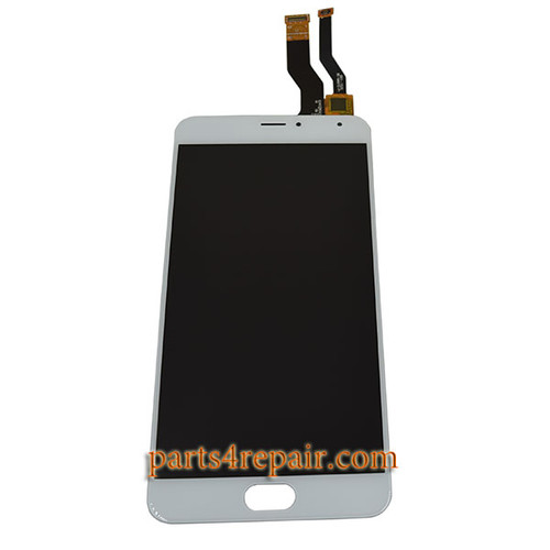 Complete Screen Assembly for Meizu M1 Metal (Meizu Blue Charm Metal) -White