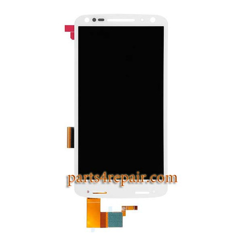 Complete Screen Assembly for Motorola Droid Turbo 2 XT1585 (for Verizon) -White