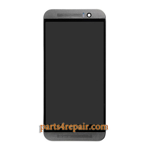 Complete Screen Assembly with Bezel for HTC One M9 -Grey