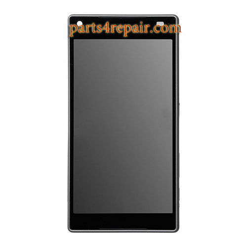 Complete Screen Assembly with Bezel for Sony Xperia Z5 Compact (Z5 mini) -Black