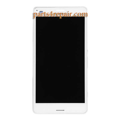 Complete Screen Assembly with Bezel for Sony Xpeira Z3 Compact (Z3 mini) -White