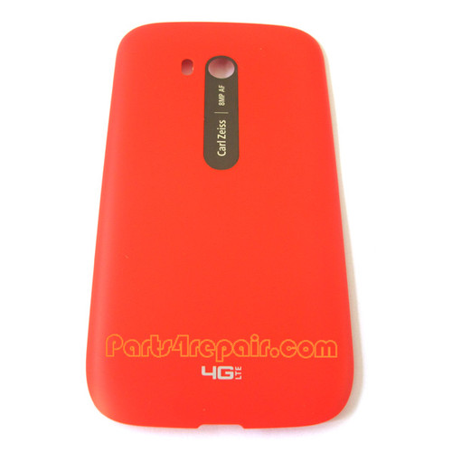 Back Cover without Wireless Charging Coil for Nokia Lumia 822 -Red
