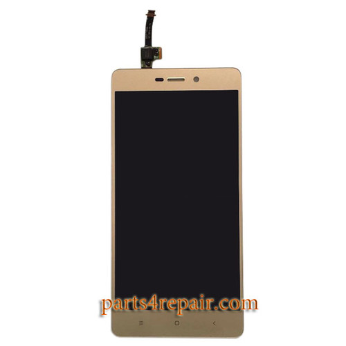 Complete Screen Assembly for Xiaomi Redmi 3 3S 3X -Gold