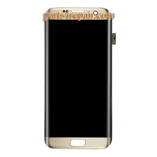 Complete Screen Assembly for Samsung Galaxy S7 Edge All Versions -Gold