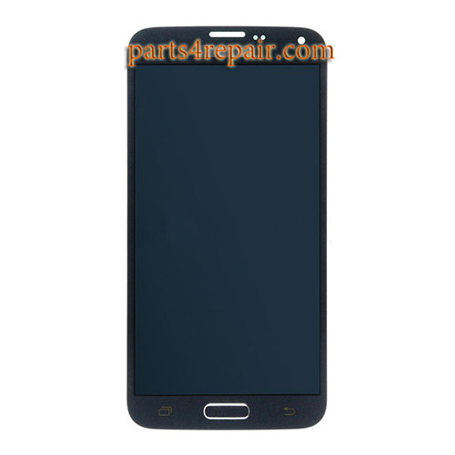 Complete Screen Assembly with Home Button for Samsung Galaxy S5 Neo All Versions -Blue