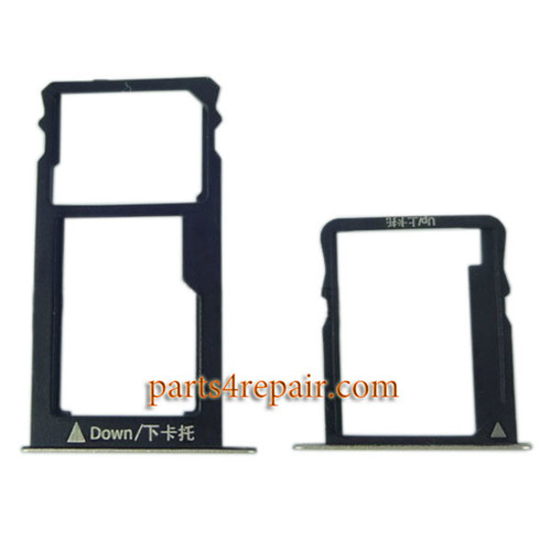 A Pair SIM Trays for Huawei Honor 5X -Gold
