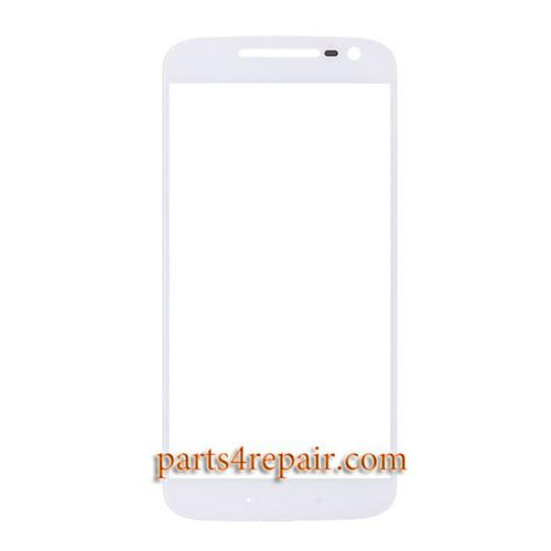 Front Glass OEM for Motorola Moto G4 -White