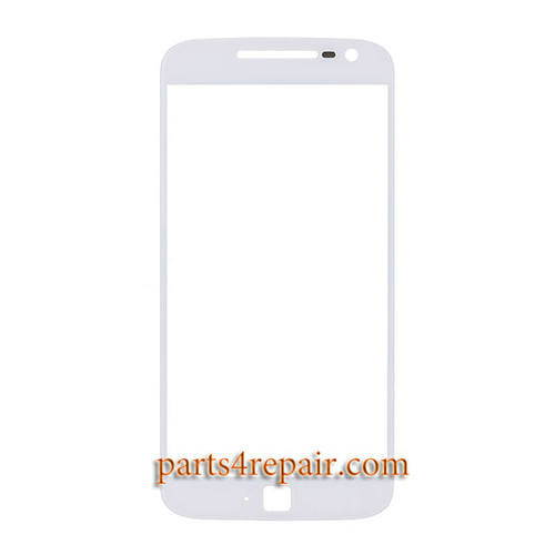 Front Glass OEM for Motorola Moto G4 Plus -White
