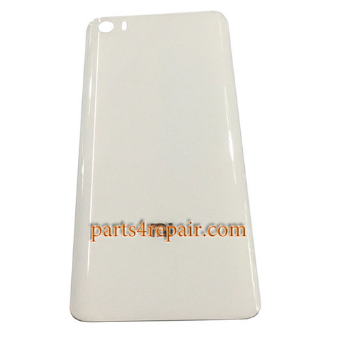 Back Glass Cover OEM without Buckle for Xiaomi Mi 5 -White