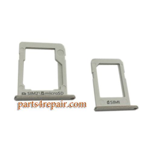 A Pair SIM Trays for Samsung Galaxy E7 E5 -Silver