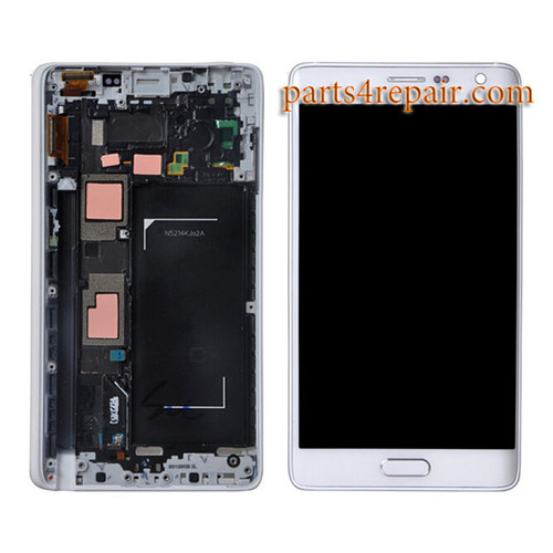 Complete Screen Assembly with Bezel for Samsung Galaxy Note Edge SM-N915 -White