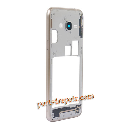 Middle Housing Cover for Samsung Galaxy J3 (2016) J3109 -Gold
