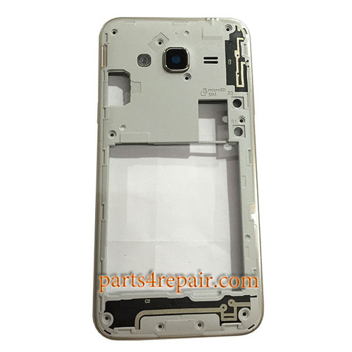 Middle Housing with Side Keys for Samsung Galaxy J3 (2016) J320F -Silver