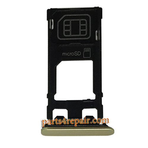 SIM Tray for Sony Xperia X -Gold