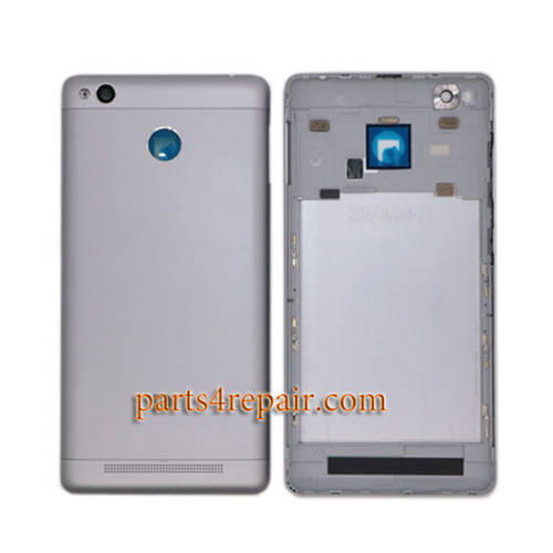 Back Housing with Side Keys for Xiaomi Redmi 3S -Gray